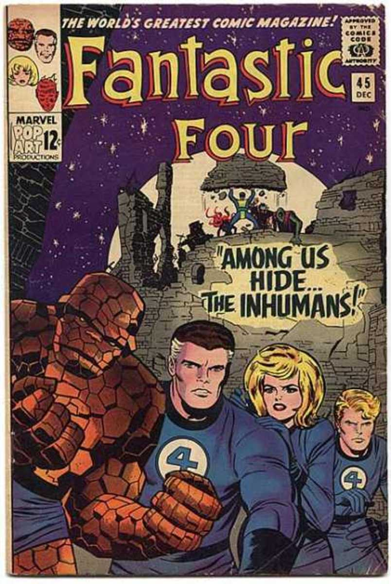 FF # 45 a classic Jack Kirby cover.