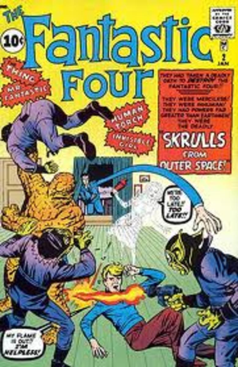 The Four battle with the Skrulls.