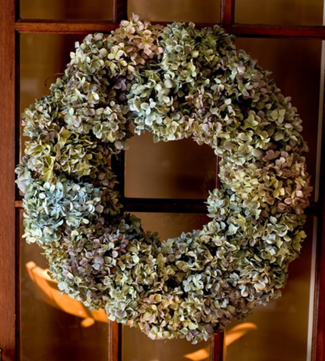 Dry Hydrangea Wreath