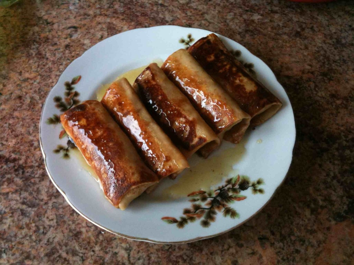 Apple Blintzes (Fried)