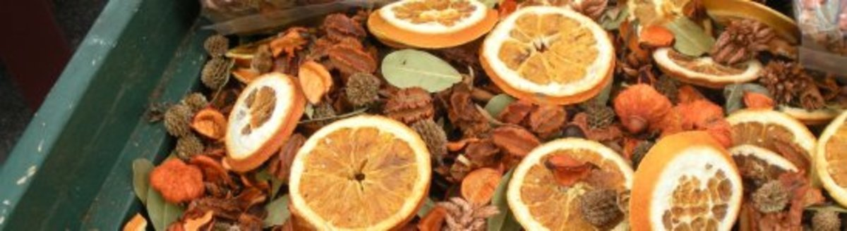 dried orange slices are perfect for an autumnal or winter display.