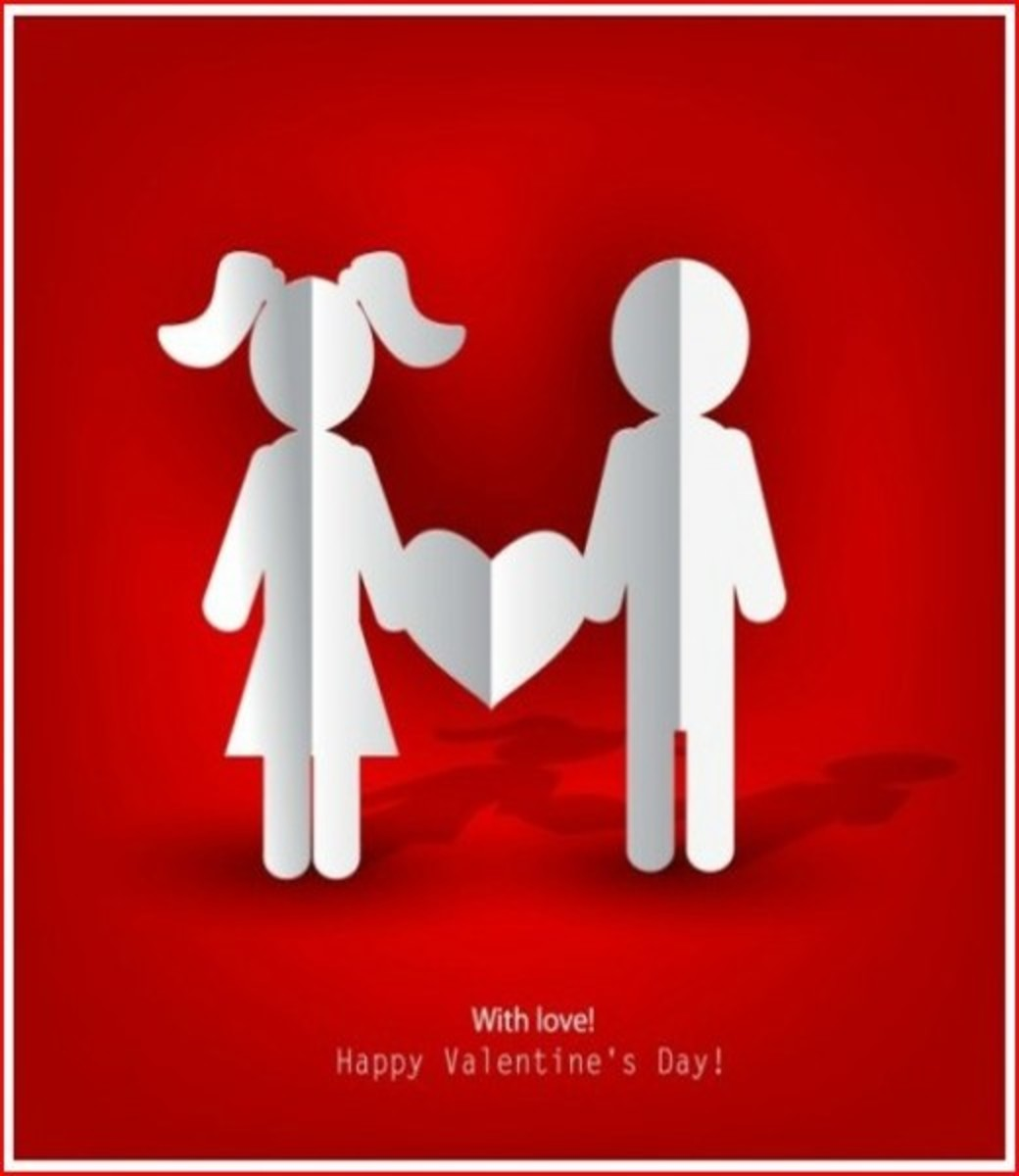 Valentine's Day Card with Love