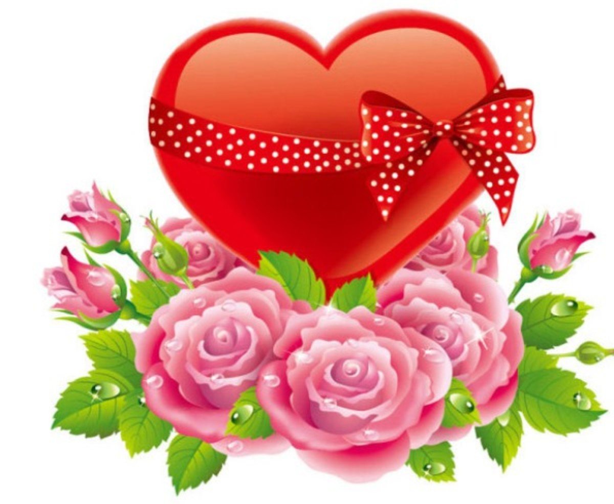 Valentine Heart with Roses