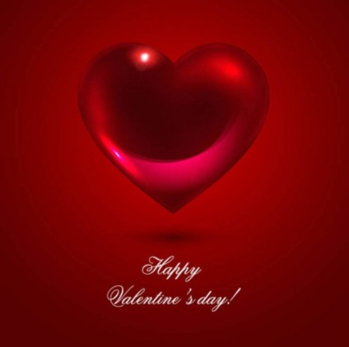 Happy Valentine's Day Image with Red Heart
