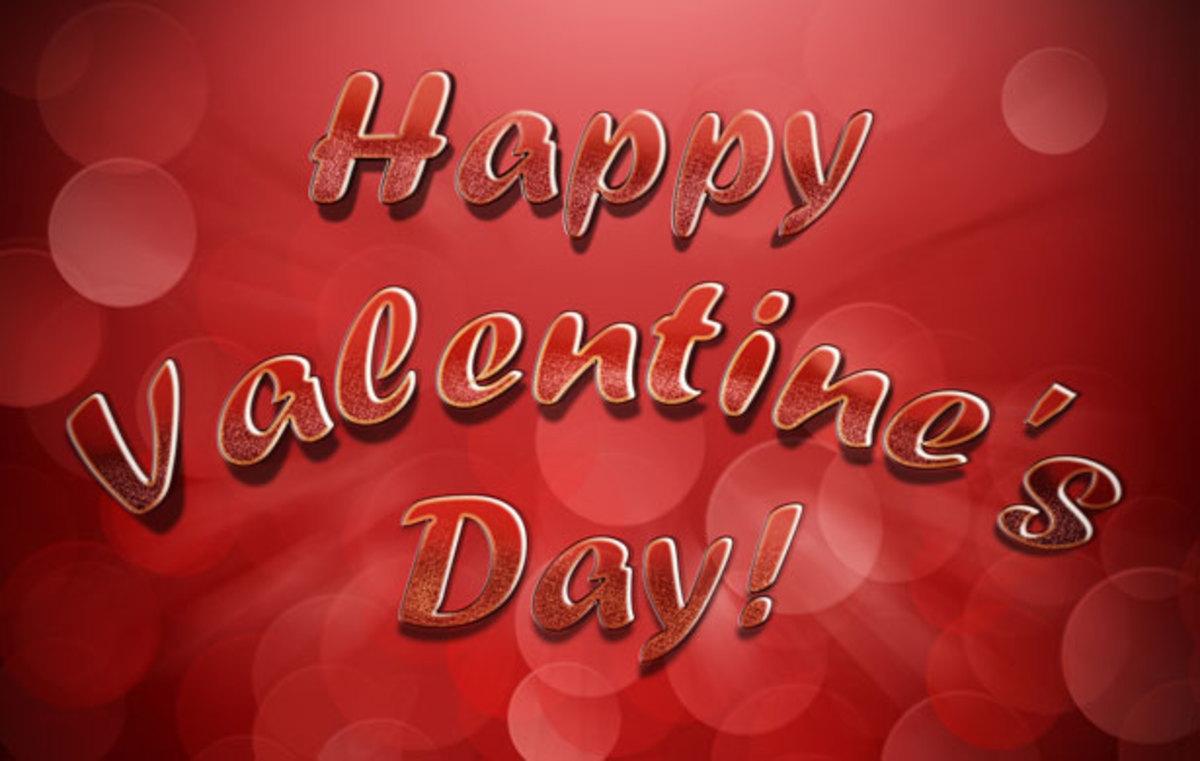 Red Happy Valentine's Day