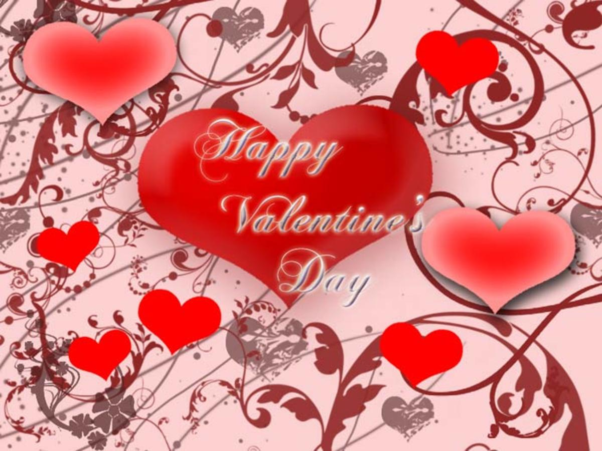 Happy Valentine's Day with Hearts