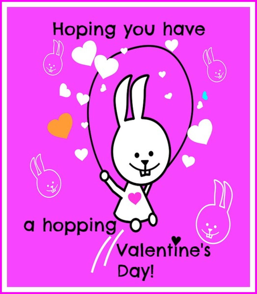 Hopping Bunny Valentine's Day Card