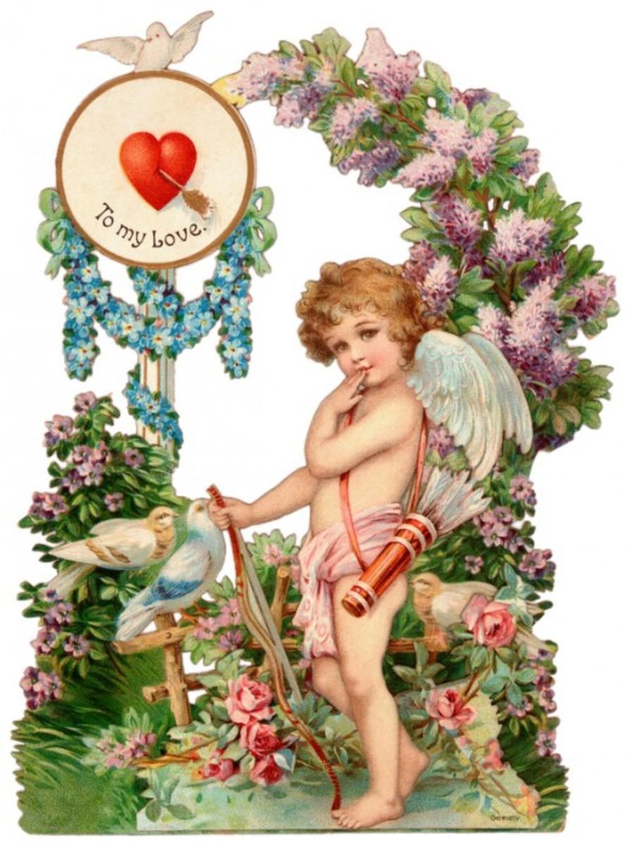 Victorian Cupid Valentine Card