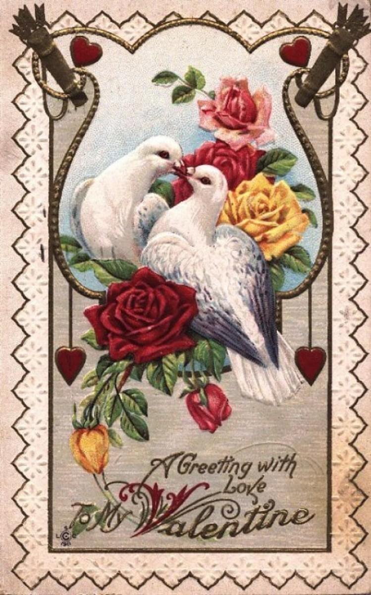 Vintage Happy Valentine's Day Card