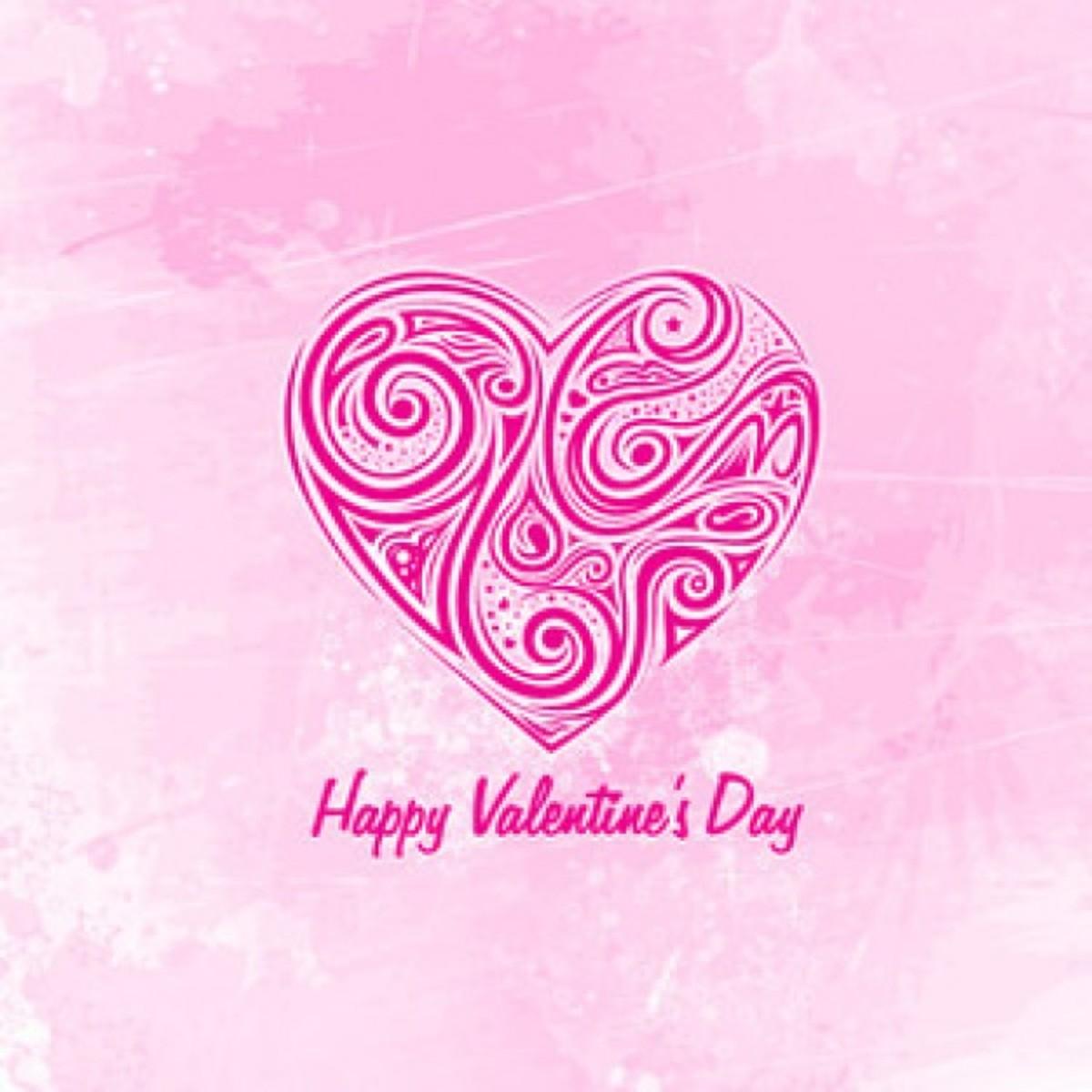Pink Happy Valentine's Day Graphic