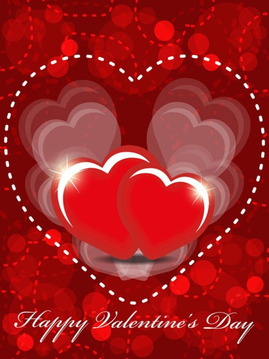 Happy Valentine's Day with Hearts Pictures
