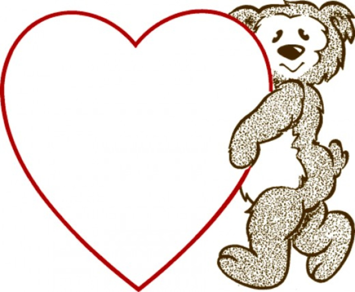 Teddy Bear Carrying a Heart