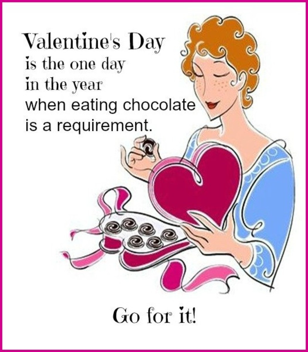 Funny Valentine's Day Card about Eating Chocolate