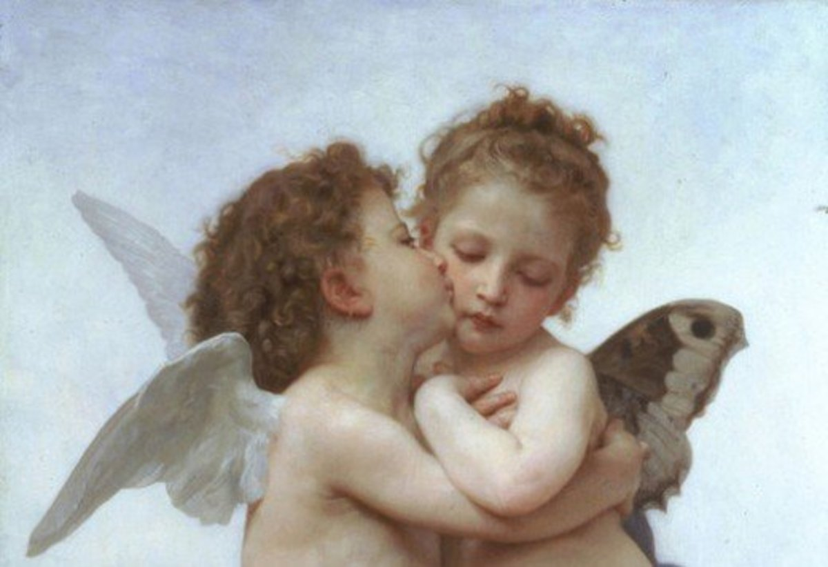 Painting of Cupid Kissing Psyche