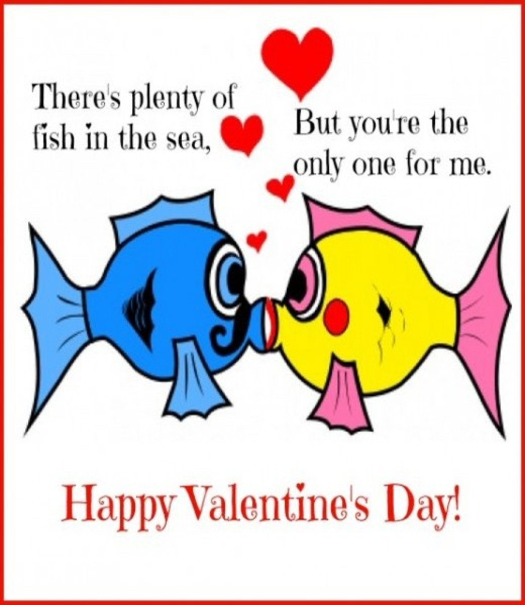 Kissing Fish Valentine's Day Card