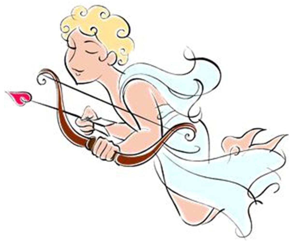 Classic Roman Cupid Wearing Toga