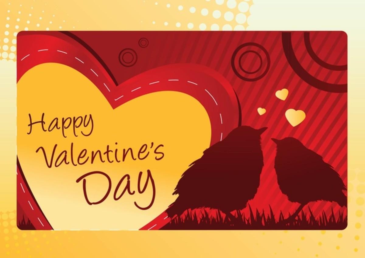 Happy Valentine's Day with Love Birds