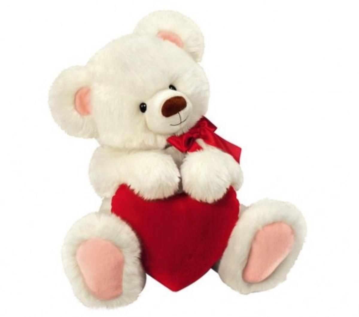 Teddy Bear Plush Valentine Toy