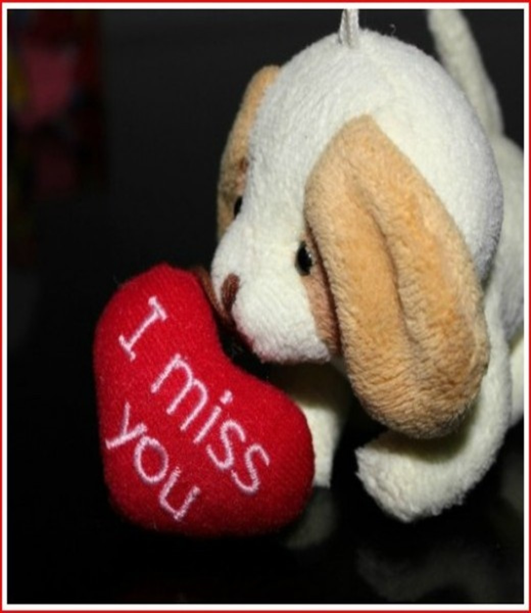 I Miss You Valentine's Day Card