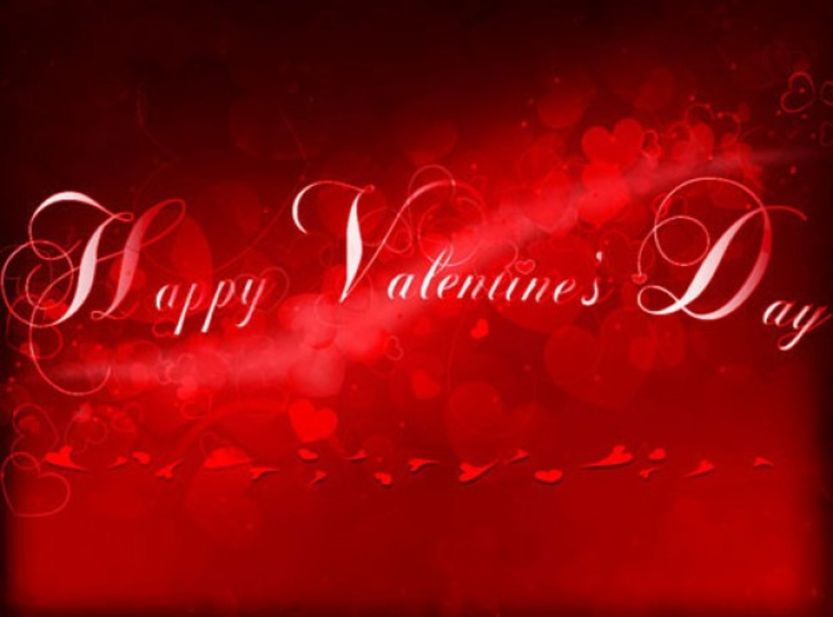 Happy Valentine's Day in Script Font