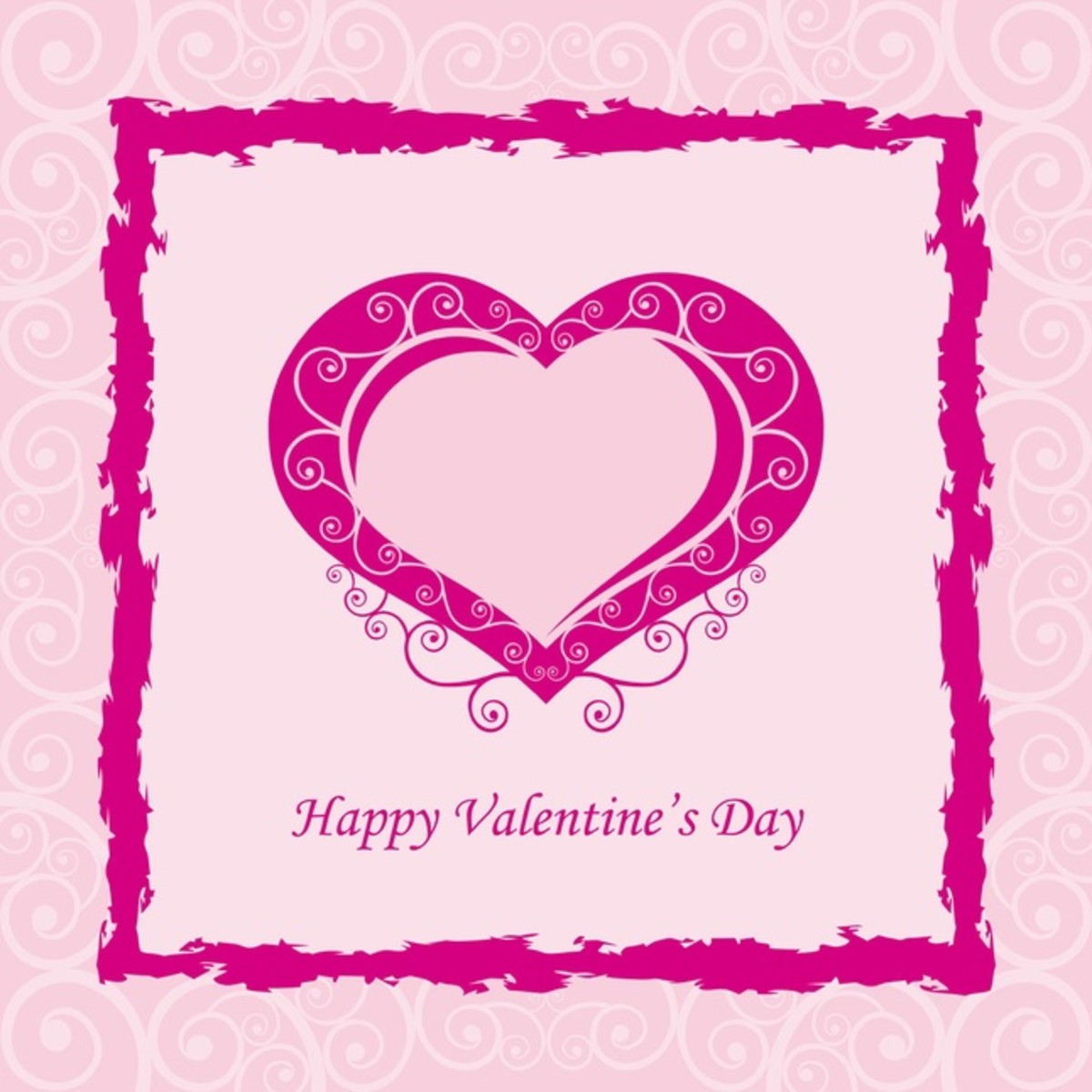 Hot Pink Happy Valentine's Day Image