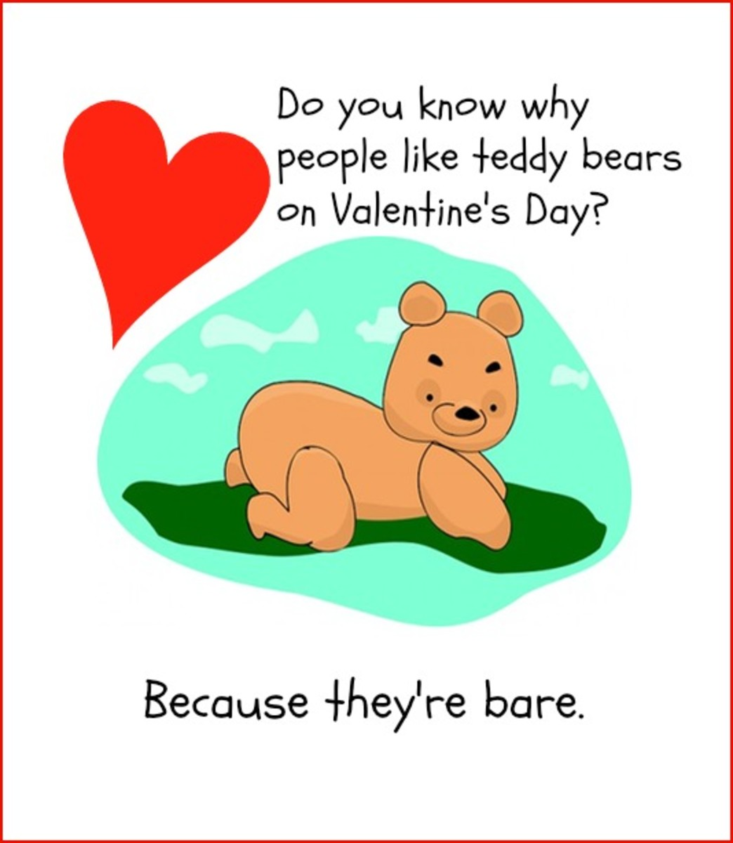 Funny Valentine's Day Card with Teddy Bear Joke