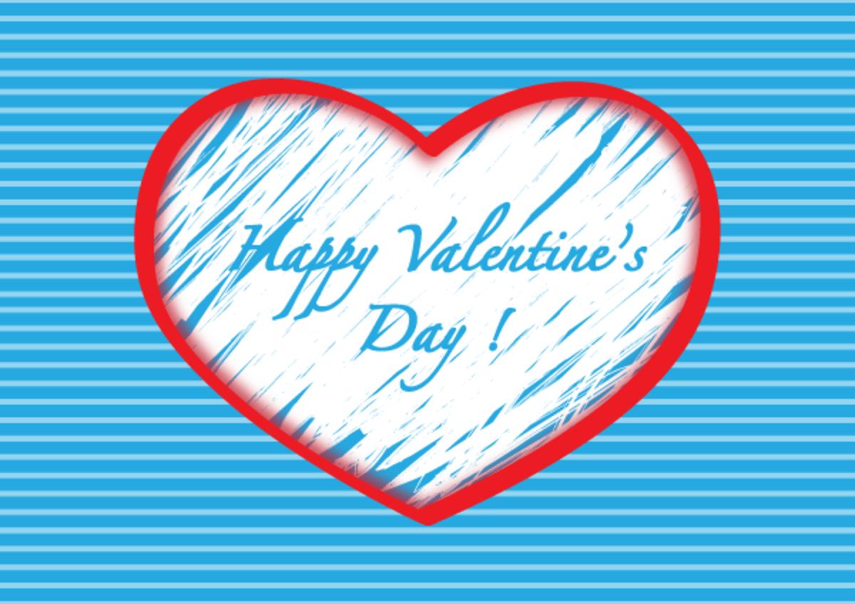 Turquoise Happy Valentine's Day
