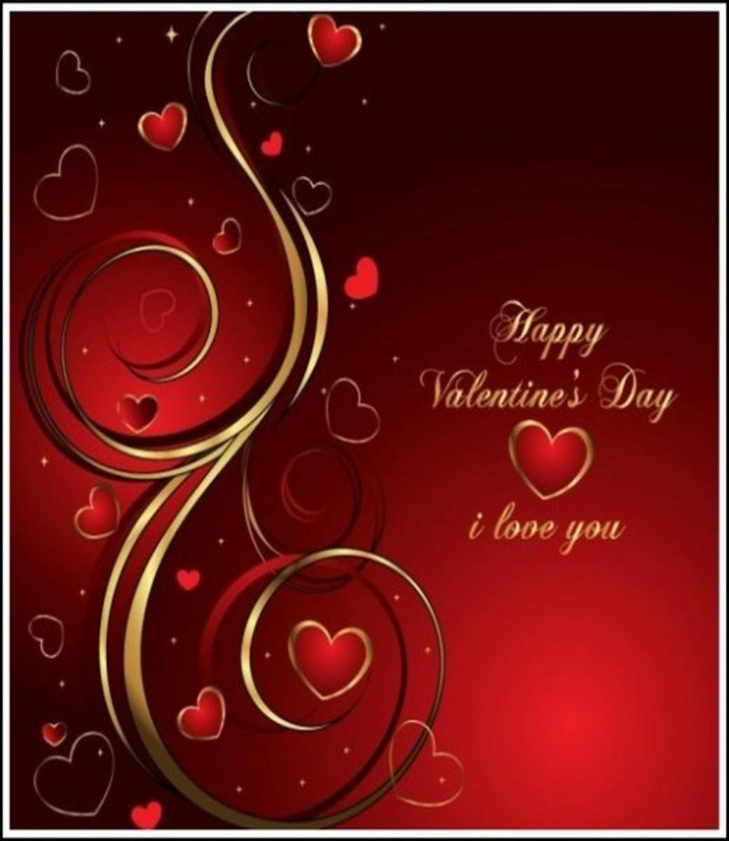 I Love You Valentine's Day Card