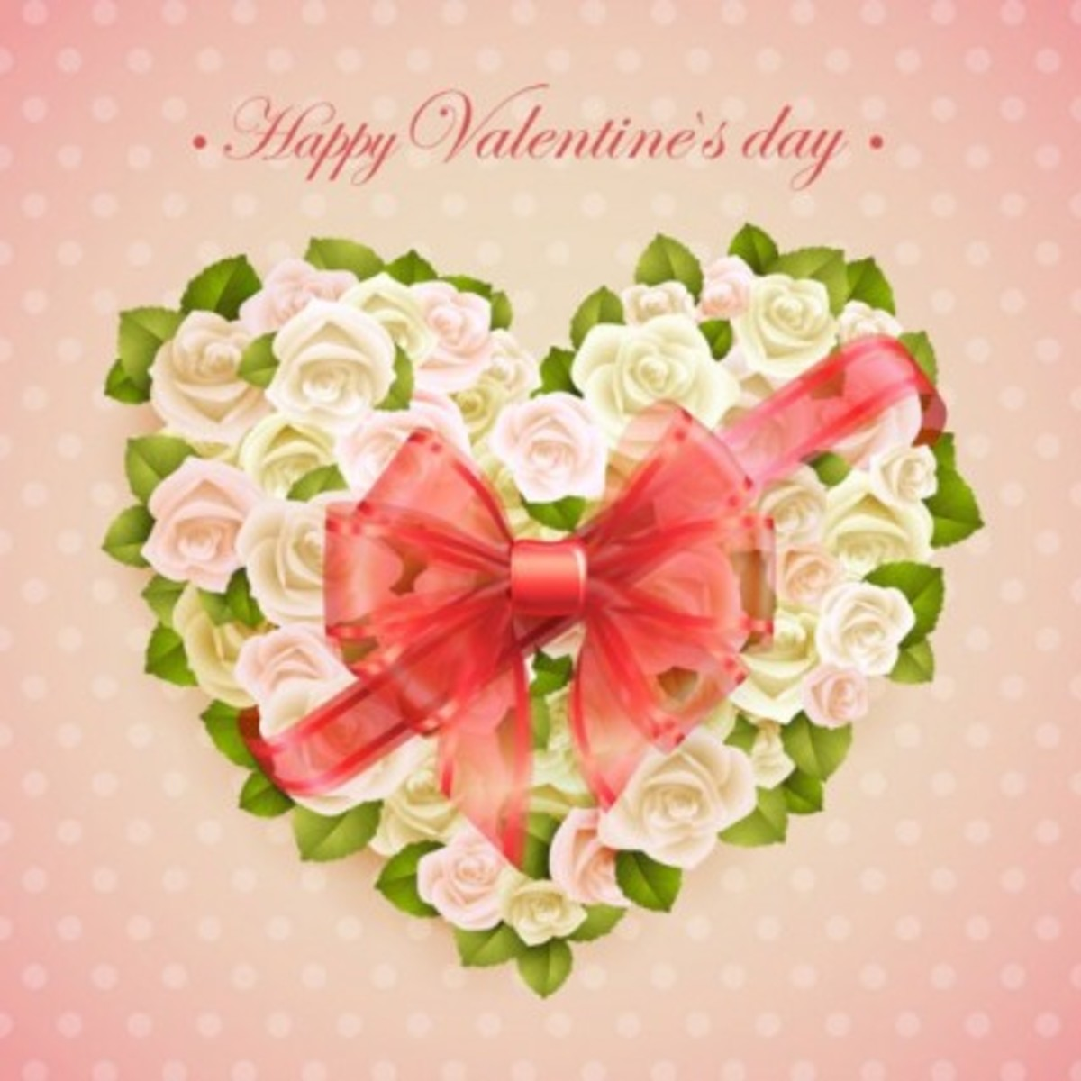 Happy Valentine's Day with Roses Wreathe