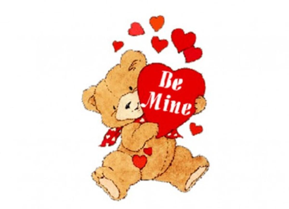 Teddy Bear with 'Be Mine' Valentine