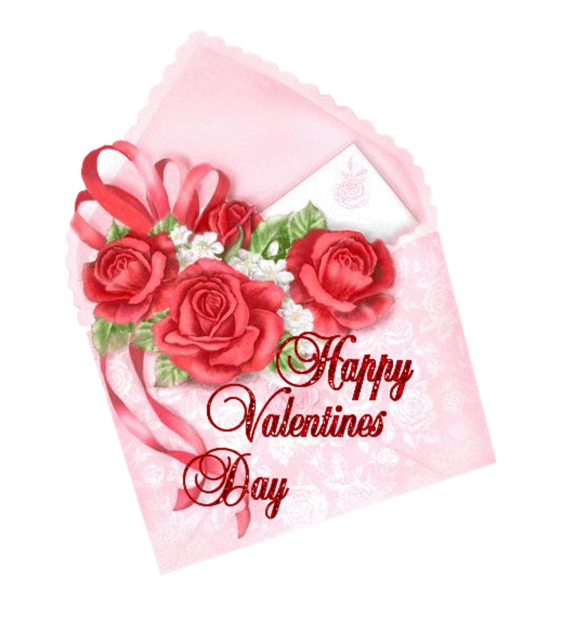 Happy Valentine's Day Greeting in Envelope