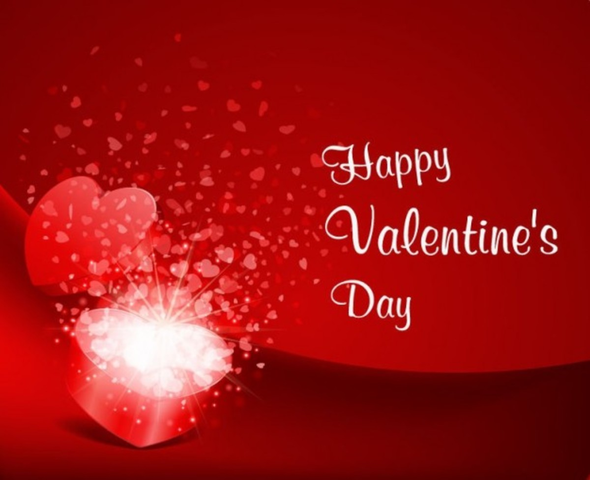Happy Valentine's Day with Open Heart Gift Box