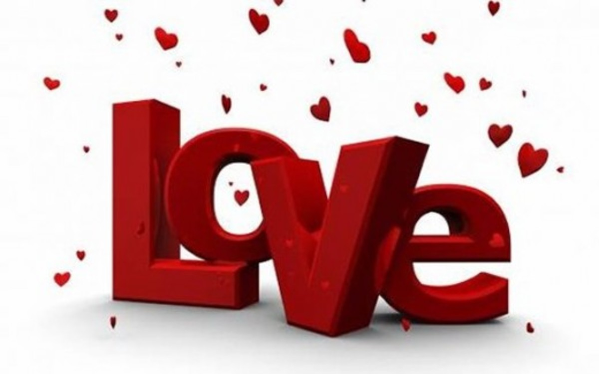 Love in Red with Flying Hearts