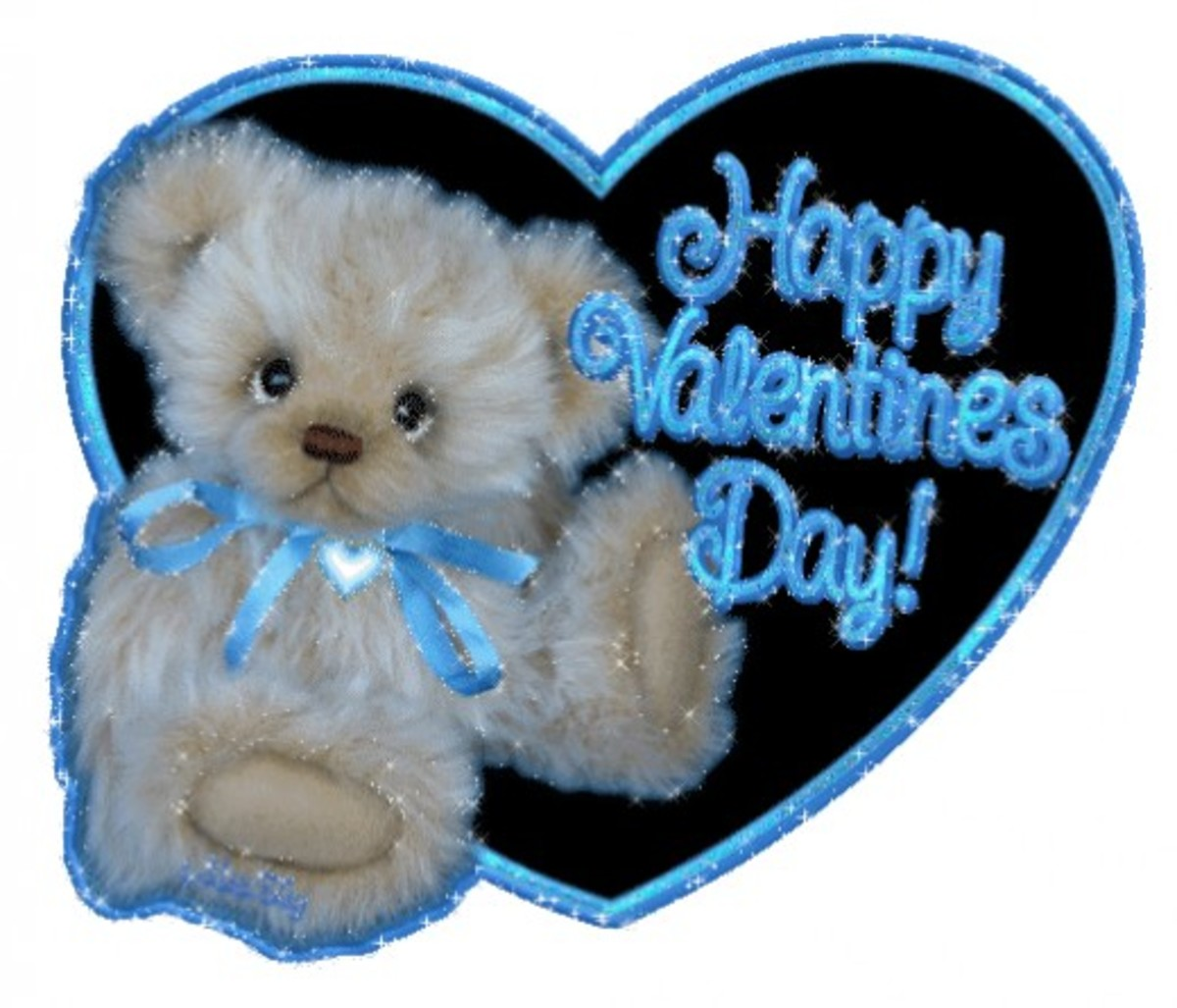 White Teddy Bear with Happy Valentine's Day