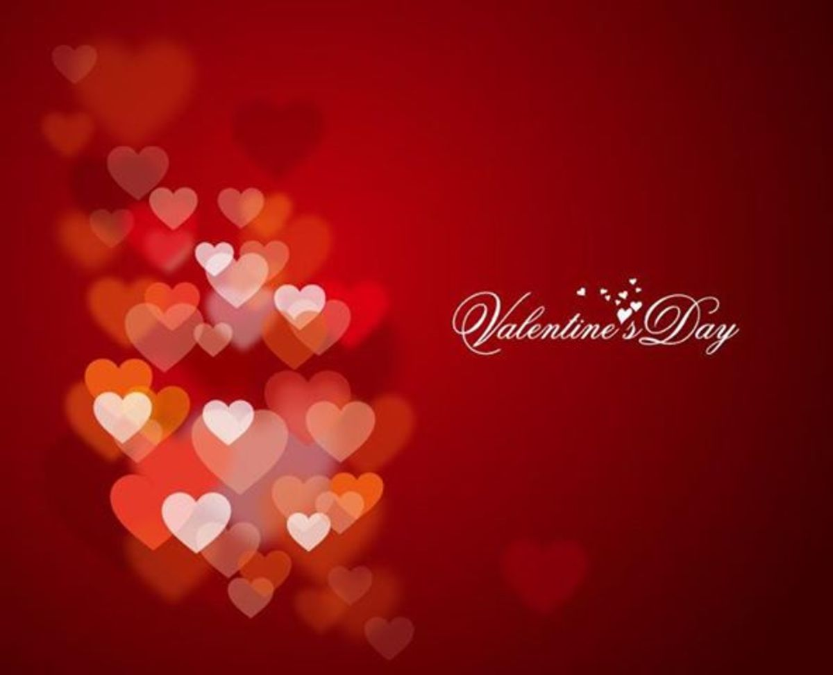 Valentine's Day with Red Hearts