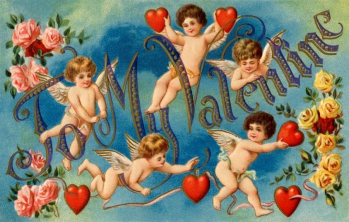 Five Valentine Cupids