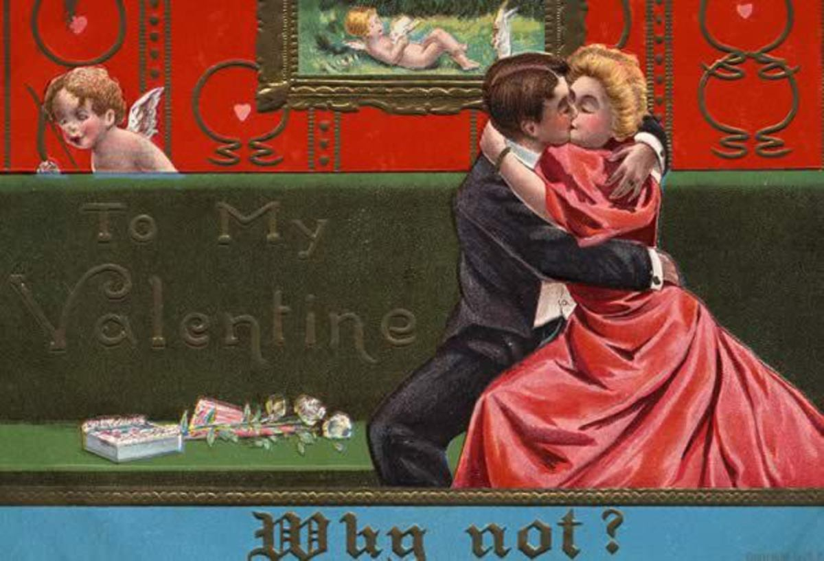 1909 Valentine's Day Cupid Postcard