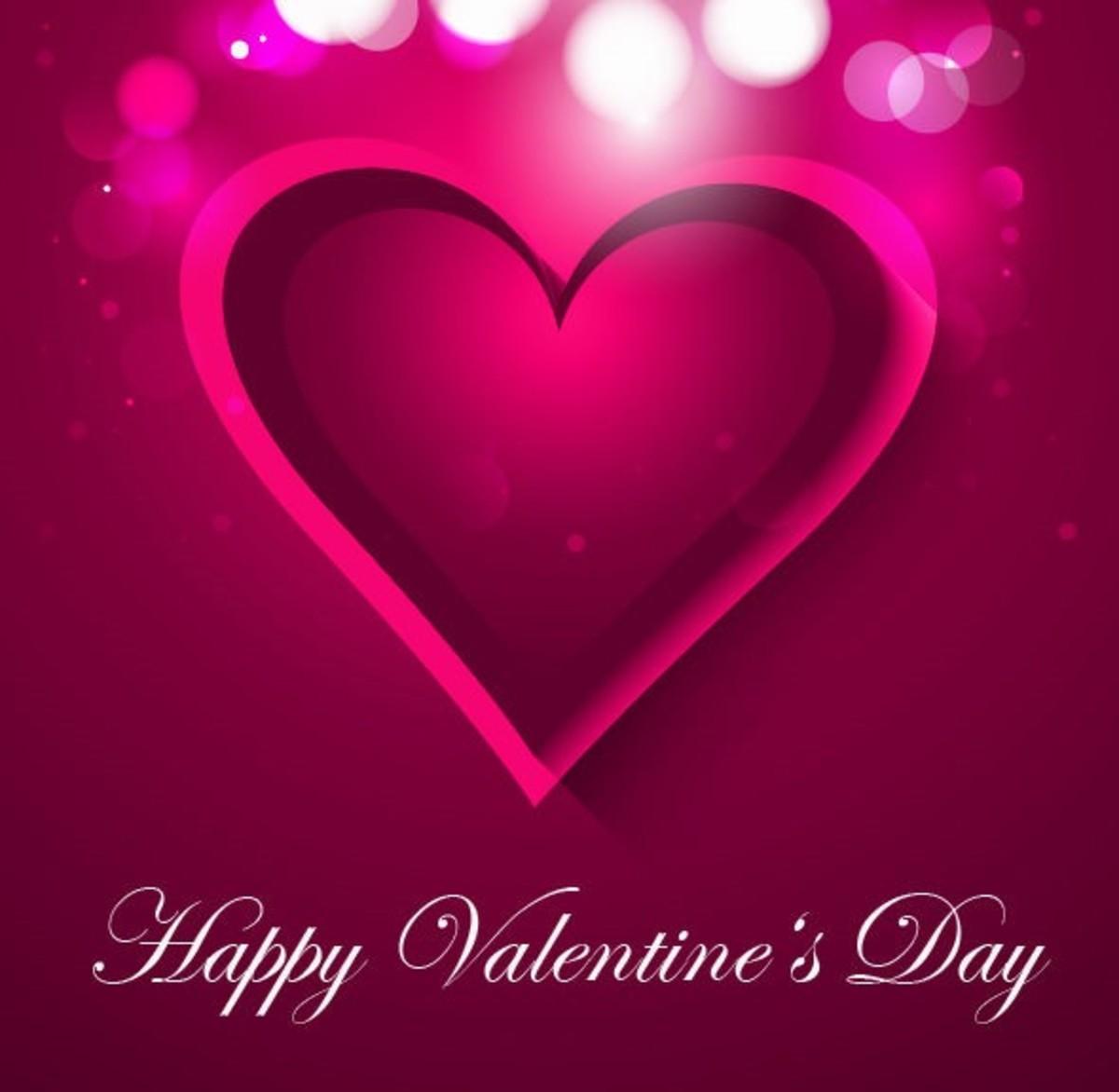 Happy Valentine's Day with Fuchsia Heart