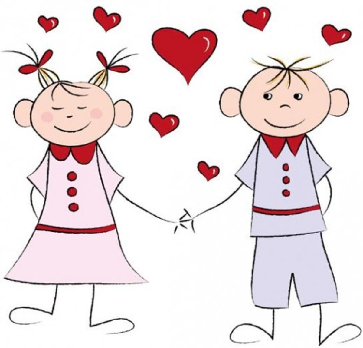 Valentine Girl and Boy