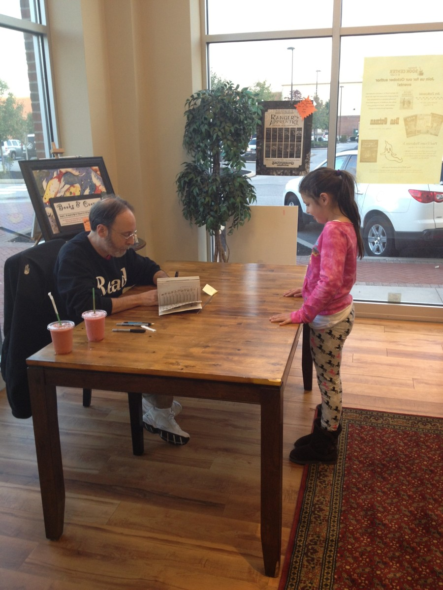 Dan Gutman at a Book Signing.
