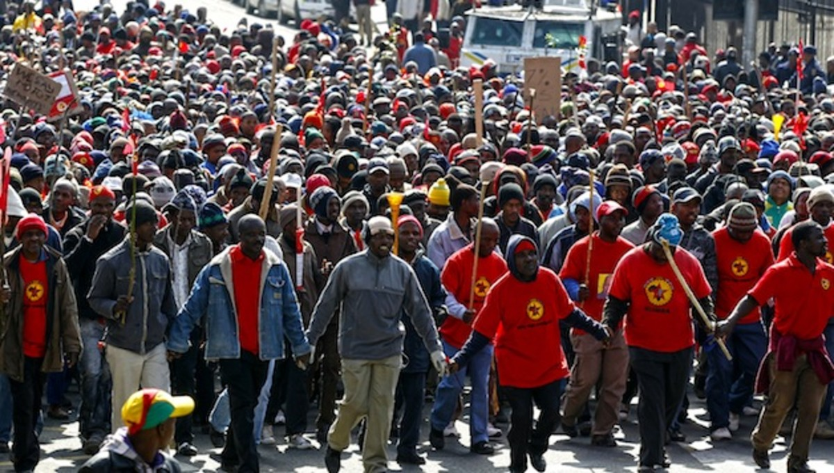 "After striking miners were killed in what is known as the ""Marikana massacre"" of April 16, 2012, tremendous working-class indignation, organization and political consciousness has emerged. The article below was produced in December of 2013 to reflect"