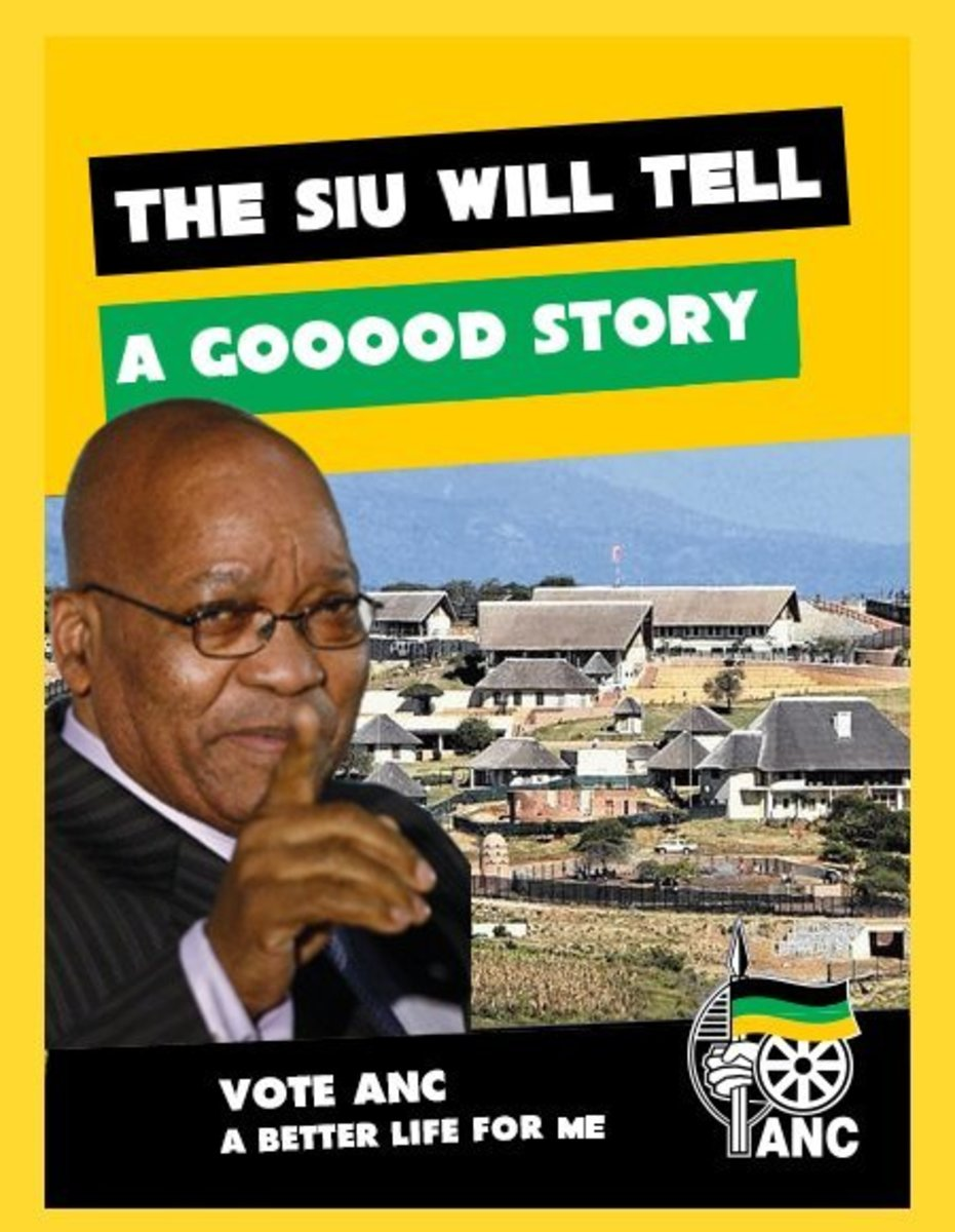 The Poster Undergirds The ANC behavior/response to the Nkandla Scandal Report