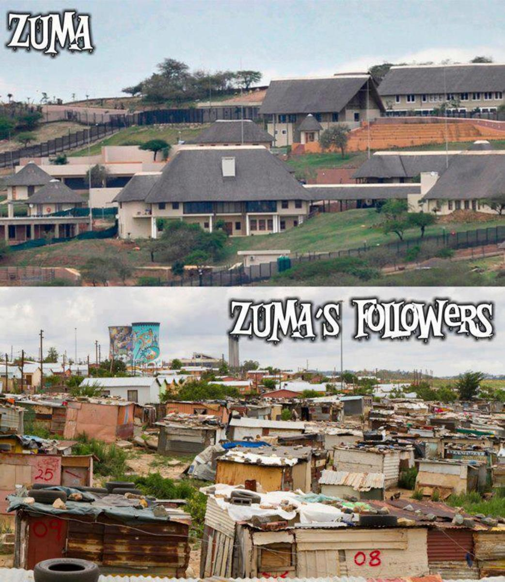 Jacob Zuma says that much remains to be done to improve people's livelihoods and the disparities between rich and poor. However, he said access to basic services, such as water through pipes, electricity and garbage removal has more than doubled sinc