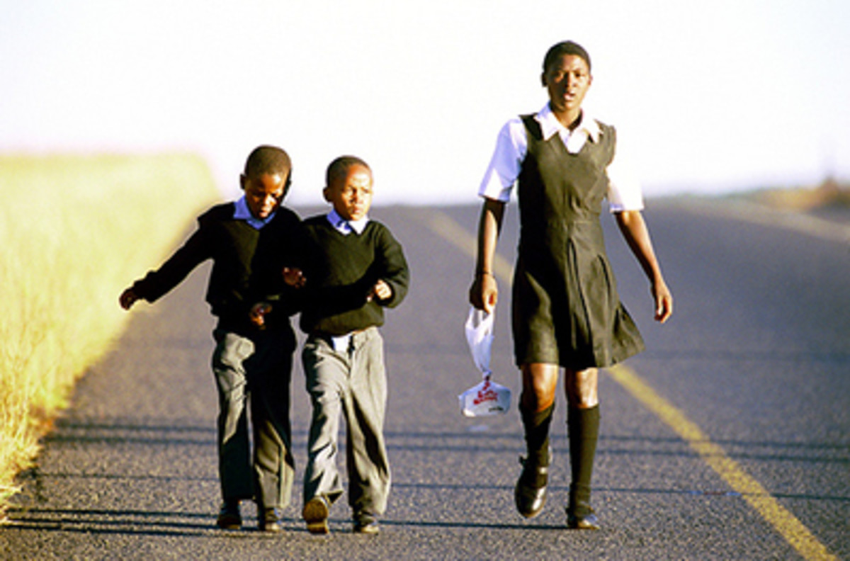 Our Children still walk miles to school even in 2014