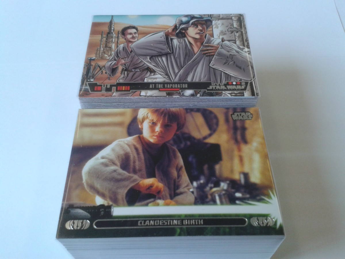 2013 Topps Star Wars Illustrated (Top) & Topps Jedi Legacy (below)