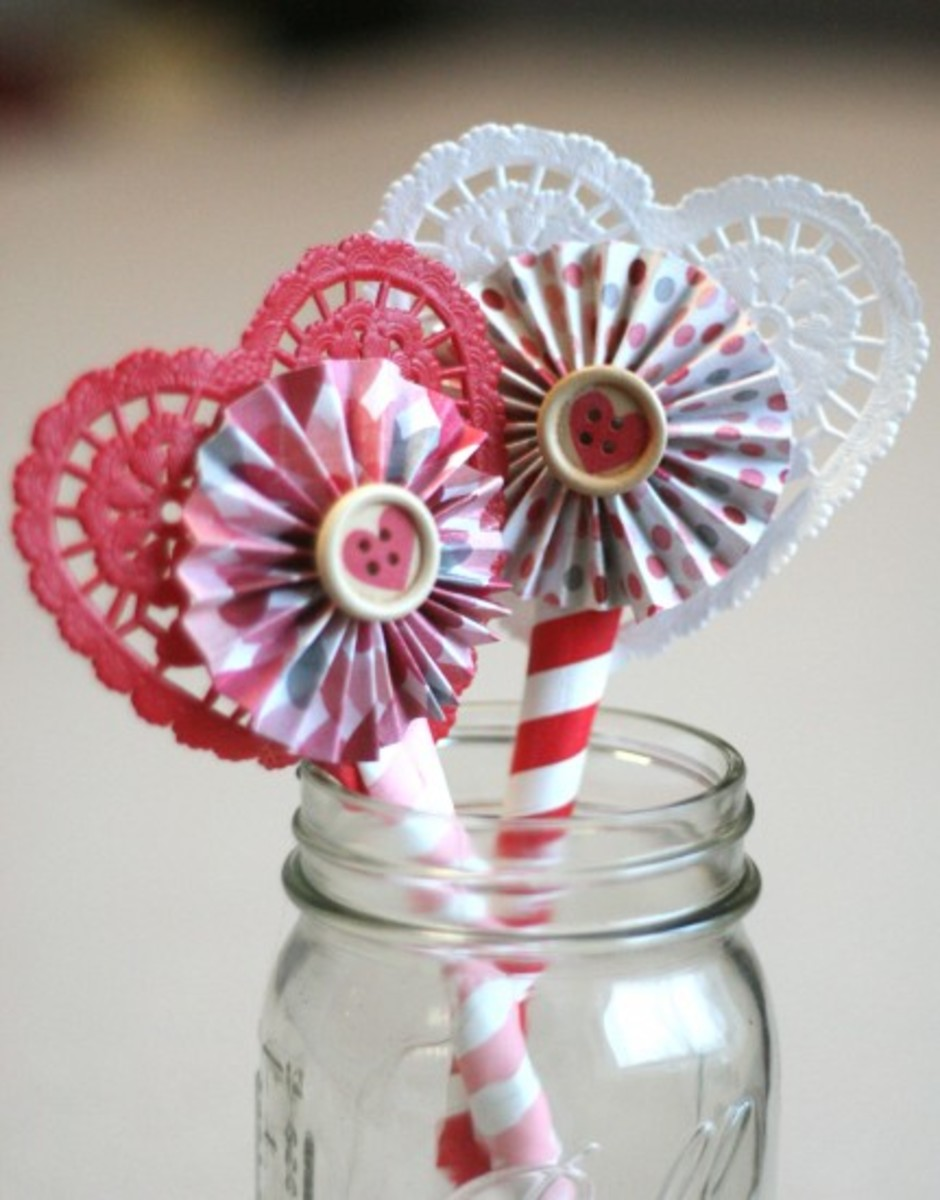 A Valentine's Day mason jar gift can be purely a decoration without any functional purpose.