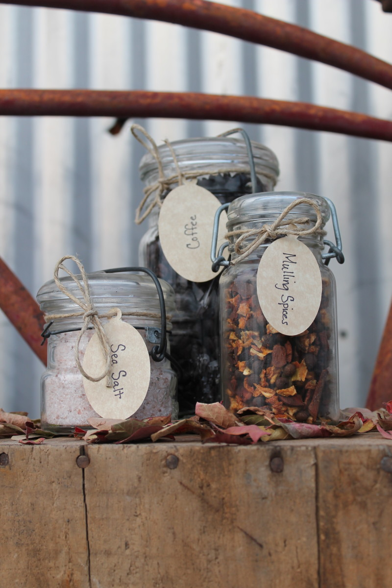Even simple touches for mason jars like the twine and labels pictured here go a long way.