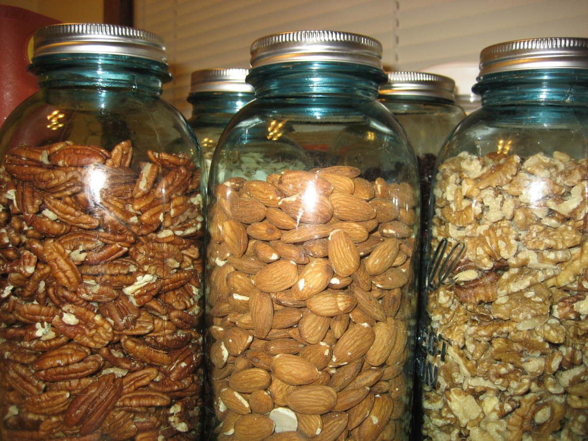Mason jars are the perfect size for gifting nuts, store bought or homemade trail mix, and unpopped popcorn.