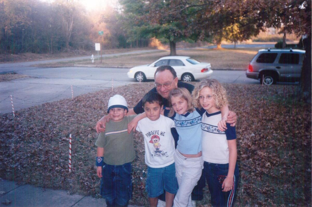 Dad, Zachary, Jase, Melanie, and Kalyn, at our home in Muskogee, Oklahoma.