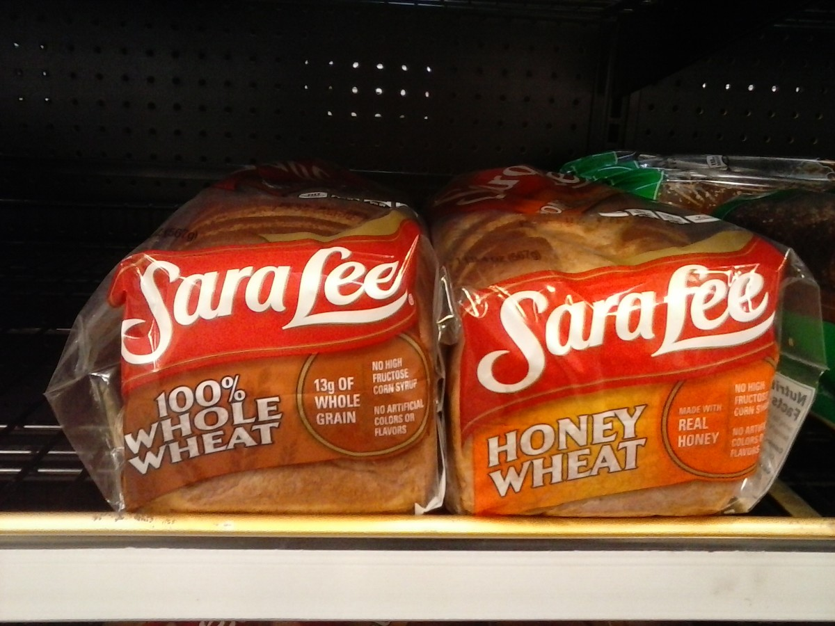 Some wheat breads are ok, but read the label.  It's a better choice than white or potato bread.